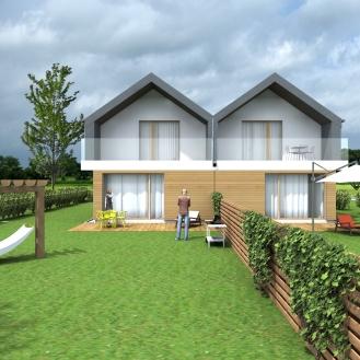 Projekt domu jednorodzinnego dwulokalowego