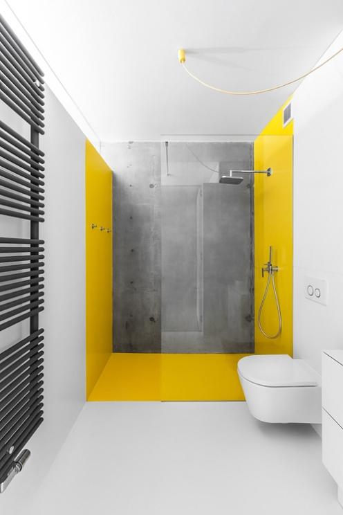 Minimalistyczna łazienka w industrialnym charakterze